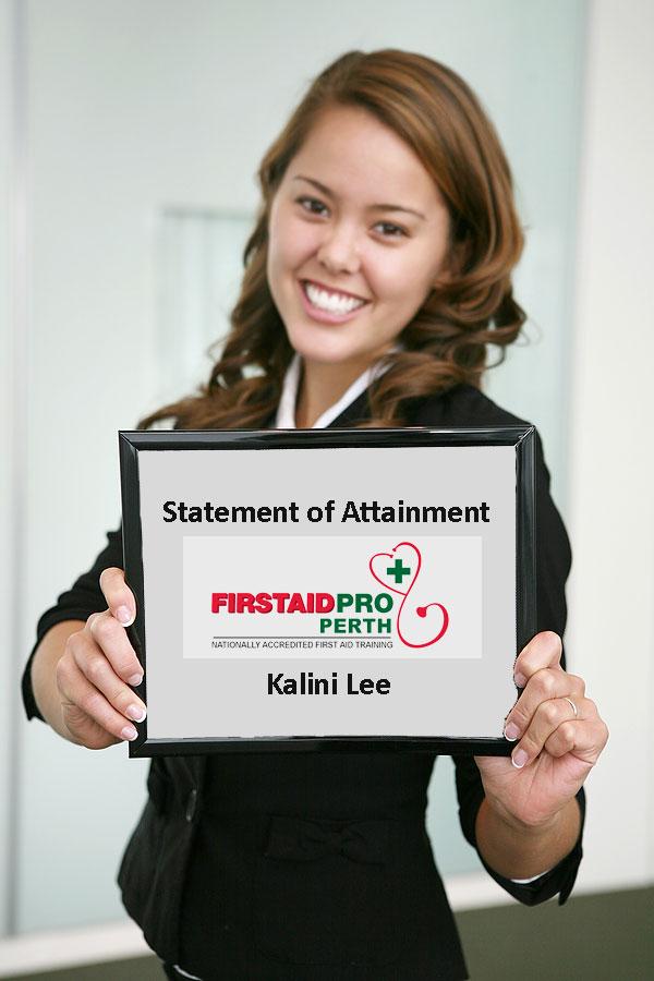 first aid certificate perth